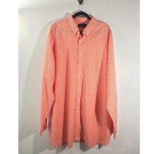 Ralph Lauren Orange Gingham Button Down Shirt 2XLT